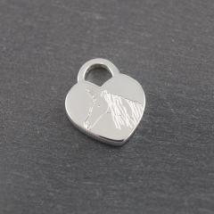 Gravuranhänger aus Silber mit Wunsch Gravur Herz 12 mm