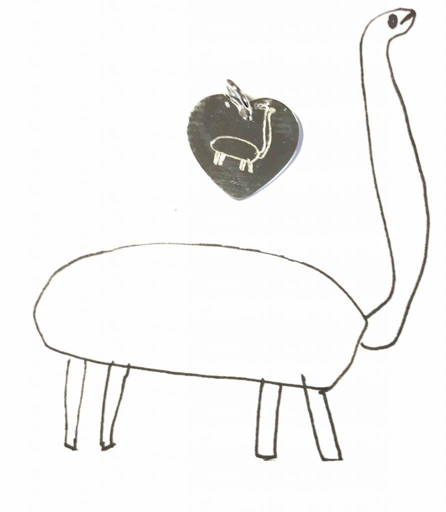 Gravuranhänger mit Kinderbild 2