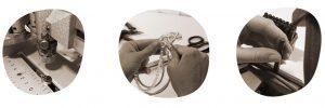 Handwerkskunst aus hochwertigen Materialien wie europäisches Leder oder Silber-Gravuren in der Schmuckmanufaktur Schöniglich