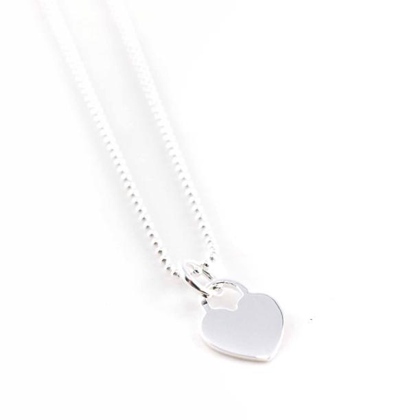 Silber Kette mit Anhänger Herz