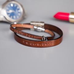 Partnerarmband SET für Sie und Ihn in der Farbe rotbraun