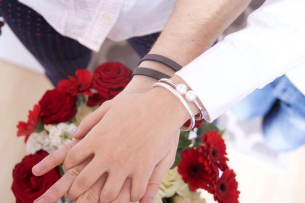 Lederarmband für Herren, Wunschtext, Geschenkidee Verlobungsgeschenk