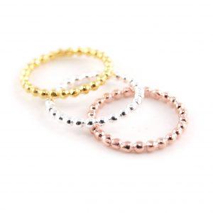 Ring-925er-Silber-Kügelchen