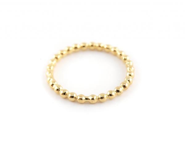 Ring-aus-925er-Silber-echt-vergoldet-Kügelchen