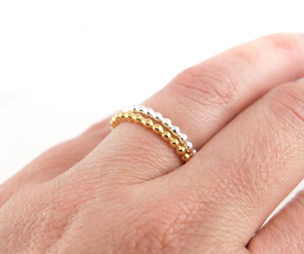 Ring-aus-925er-Silber-und-echt-vergoldet-Kügelchen-Hand