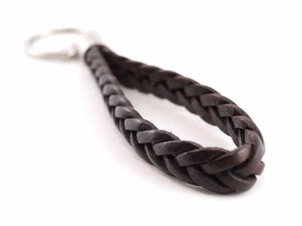 Schlüsselanhänger aus Leder braun