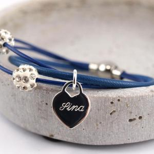 Anna die I. mit Gravuranhänger Herz royalblau