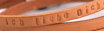 Druckschrift-Leder-Prägung
