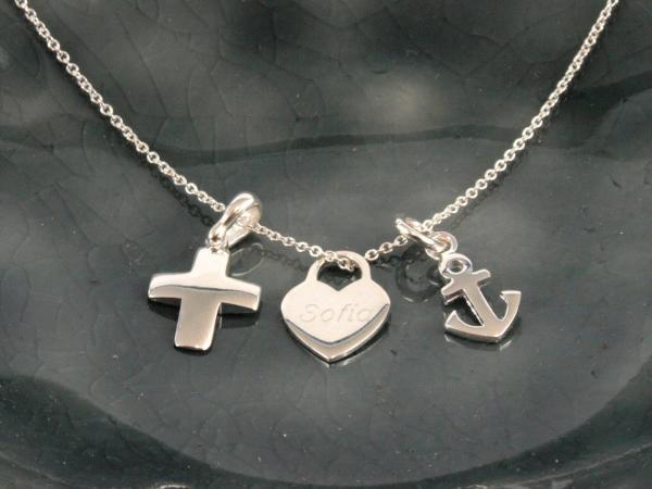 Glaube Liebe Hoffnung Kette Silber