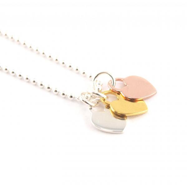 Kugelkette mit Anhänger Silber Herz