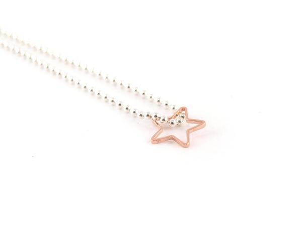 Offener Stern aus Silber rosegold