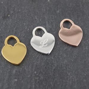 Kleiner Herzanhänger in drei Farben mit Gravur