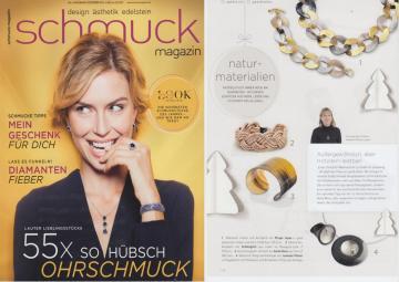 Das Schmuckmagazin bildet unser geflochtenes Lederarmband Maxi in rosegold ab.