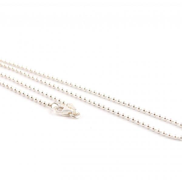 Silberkette, kugelkette silber, verschiedene längen