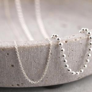 Silberkette verschiedene Modelle und laengen