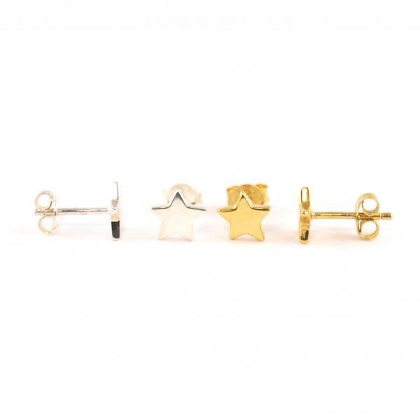 Sterohrring Stecker Ohrring Ohrstecker Silber Gold
