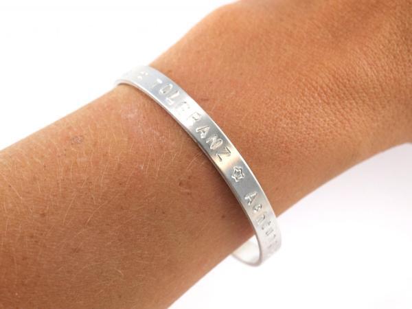 ALuminium Reif 5 mm mit Wunschtext Gravur arm