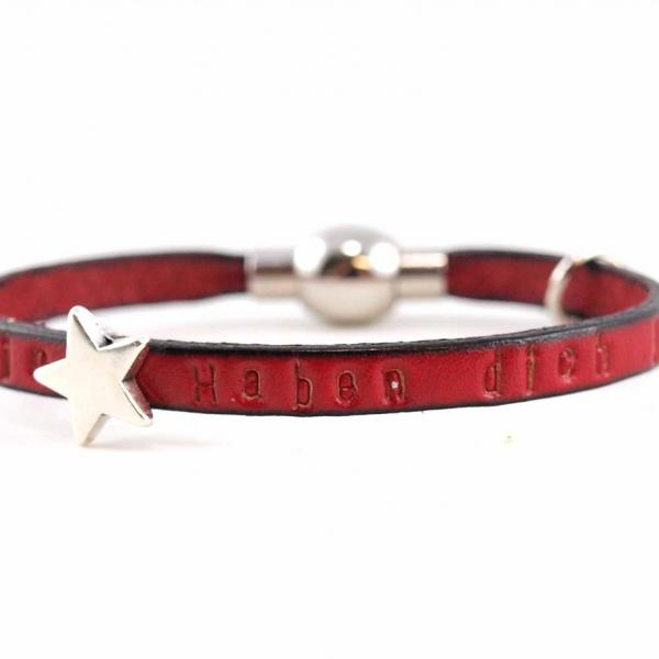 Kinderarmband Lou mit Stern rot