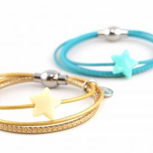 Lederarmband Annabel Kinder mit Stern Perle