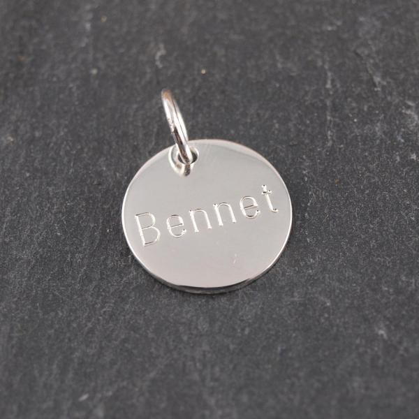 Gravuranhänger mit Wunschtext 16 mm