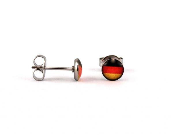 Ohrstecker Deutschlandflagge für Allergiker