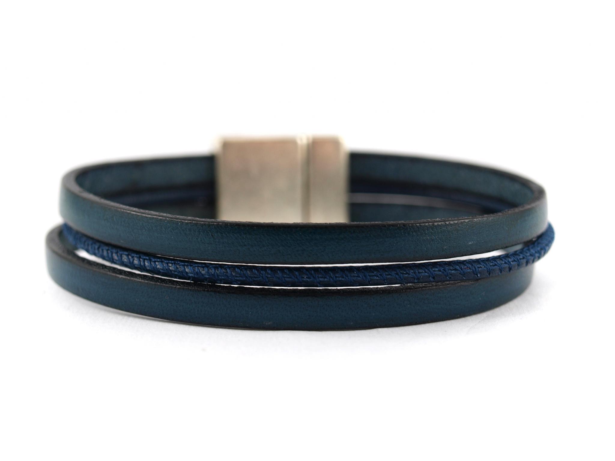 Gro/ßer Ring 2,5 cm Dunkelblau und Silberfarben f/ür die Tochter