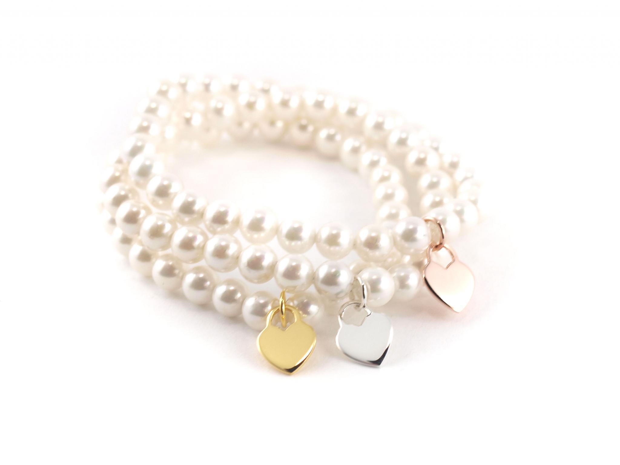 heiß seeling original niedrigster Rabatt große Auswahl Armband aus Perlen mit Herzanhänger
