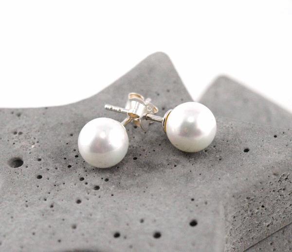 Perlenohrringe von Schoeniglich, Silber, perle