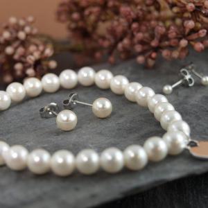 Perlenschmuck Perlenohrring Armband Perle