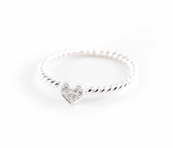 Silber-Ring-gedreht-mit-Strass-Herz