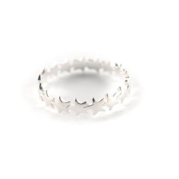 Silber Ring mit Sternen 925er Silber