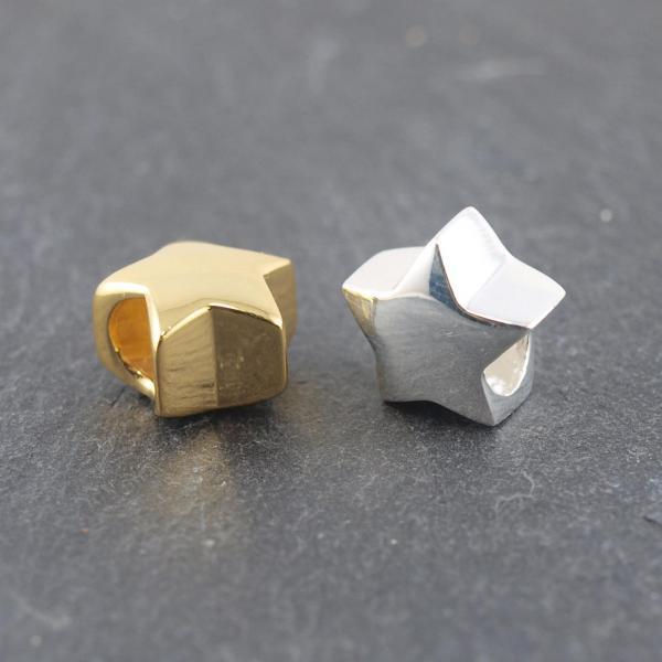 Zubehoer Sternperle aus 925er silber oder vergoldet