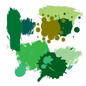 Farbkleckse in Kaktus, Salbei, Camouflage, Dunkelgrün, Lindgrün, Moos, Jade, Petrol
