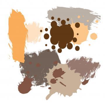 Farbkleckse in Braun, Beige, Taupe, Rotbraun, Kamel, Cognac