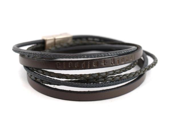 Philip der II Herrenarmband mit Wunschtext dunkelbraun