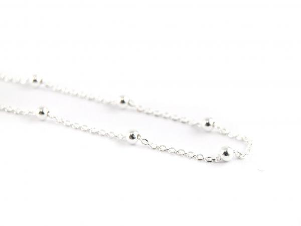 925er Silberkette mit Kuegelchen silber