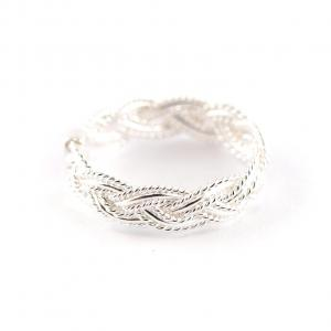 925er Silberring geflochten