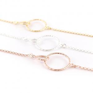 Silberkette Verbundenheit, zwei Kreise