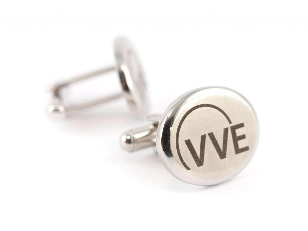 VVE Mitarbeiter-Geschenk Manschettenknoepfe mit Firmen-Logo