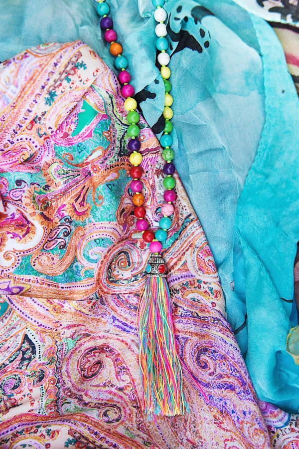 Sommer Strand Hippie Kette Ibiza Style Perlenkette