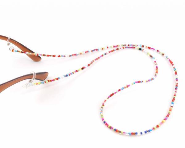 Brillenkette für Sonnenbrillen Hippie Look kleine bunte Perlen