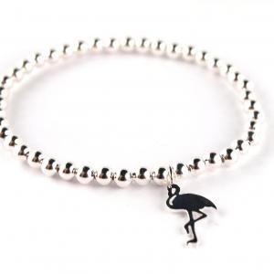 Armband aus Silber mit Flamingo-Anhänger