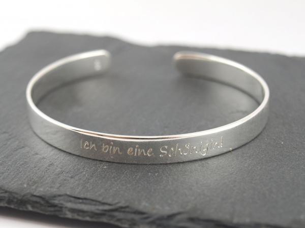 Armspange aus 925er Silber mit individuellem Wunschtext