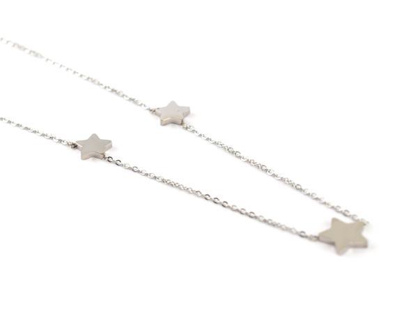 Edelstahlkette mit drei kleinen Sternen