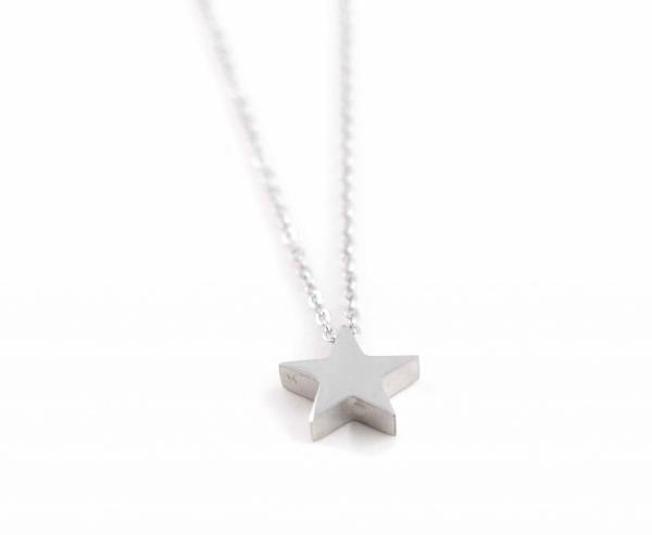 Halskette aus Edelstahl mit Stern silber