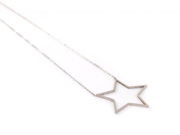 Halskette aus Edelstahl mit offenem Stern