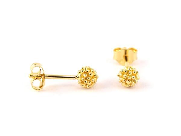 Kuegelchen Ohrring in gold