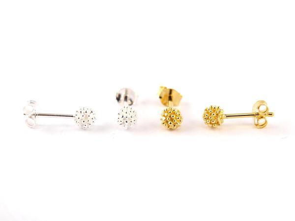 Kuegelchen Ohrring silber und gold