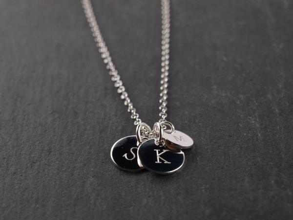 Familienkette mit Initialen Silber
