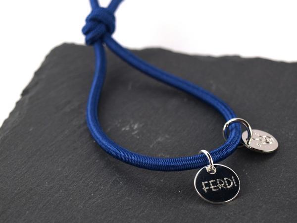 Elastisches Armband Groessenverstellbar blau